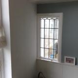 Glas in lood ramen vanaf de binnenkant